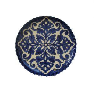 Prato decorativo azul e branco