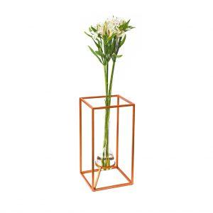 Vaso Shape alumínio e cobre (G)