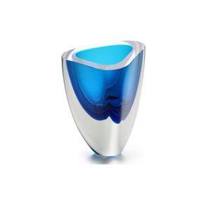 Vaso triangular N4 Bicolor (azul com água marinha)