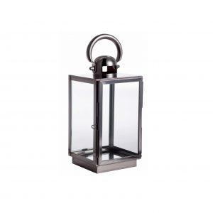Lanterna Harbor de aço inox 29cm
