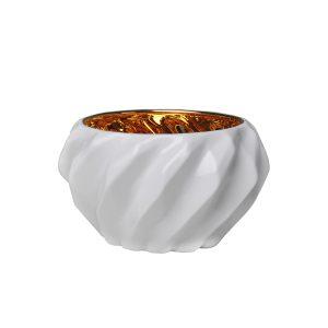 Cachepot Plissan Geométrico (com dourado)