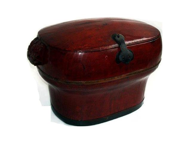 Caixa vermelha madeira