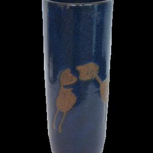 Vaso azul c/ desenho