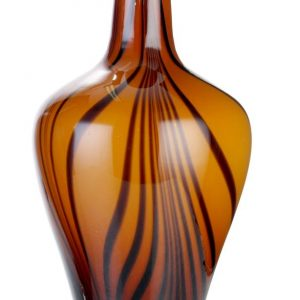 Vaso vidro Marrom Listrado